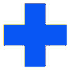 bright blue cross