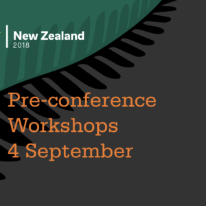 Pre-conference workshops Tuesday 4 September 2018
